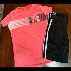 Girls outfit xl under armour shirt and pants